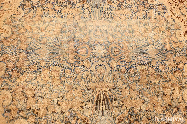 large decorative antique persian kerman rug 50622 medallion Nazmiyal