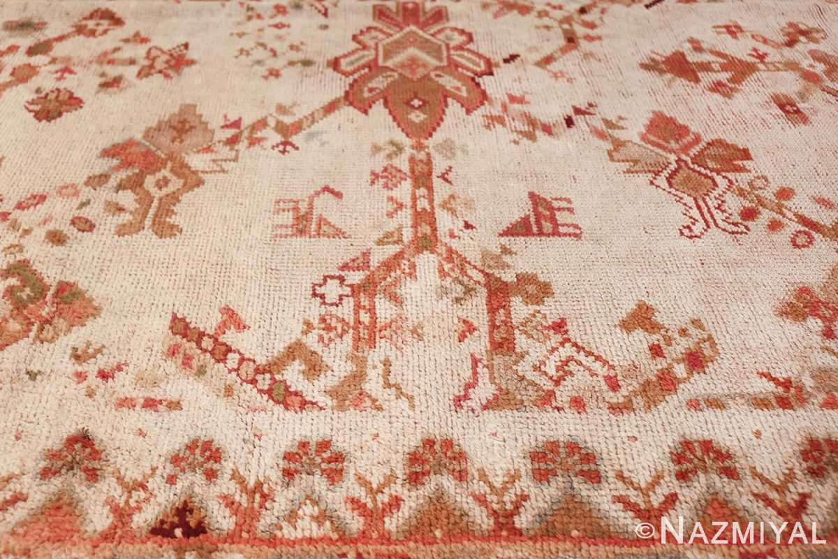 Large Ivory Background Antique Irish Donegal Rug 47566 Side Pattern Nazmiyal