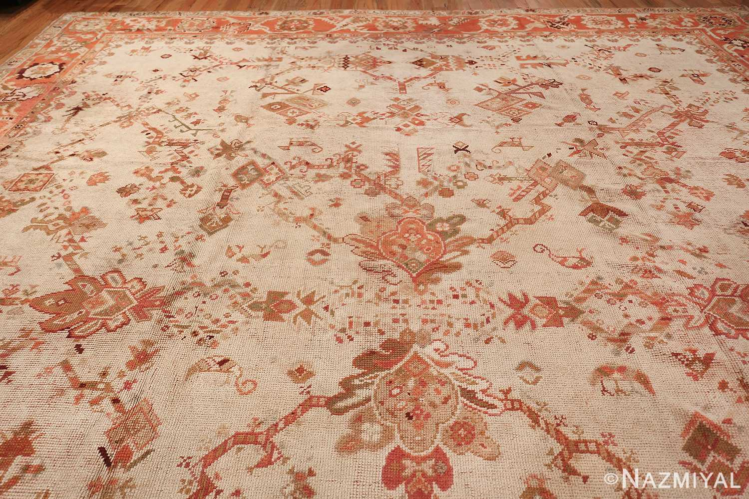 Large Ivory Background Antique Irish Donegal Rug 47566 Top Design Nazmiyal