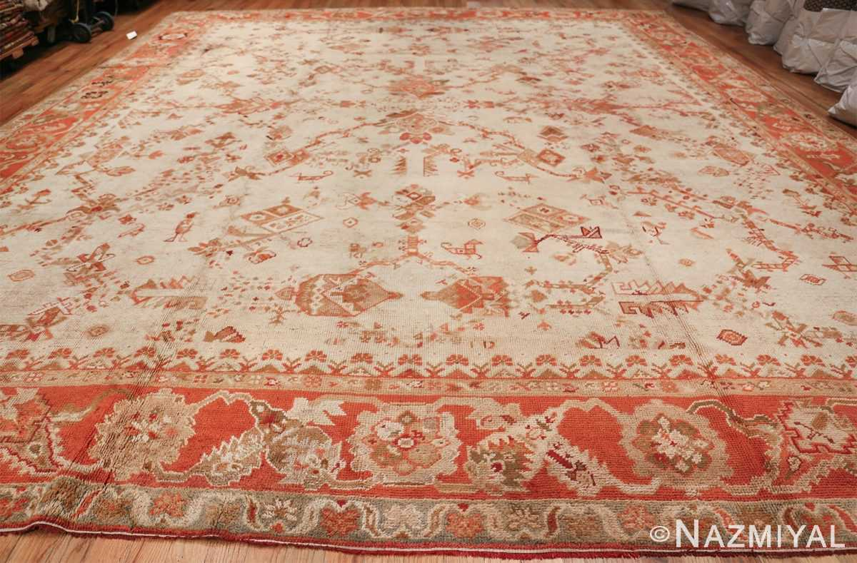Large Ivory Background Antique Irish Donegal Rug 47566 Whole Design Nazmiyal