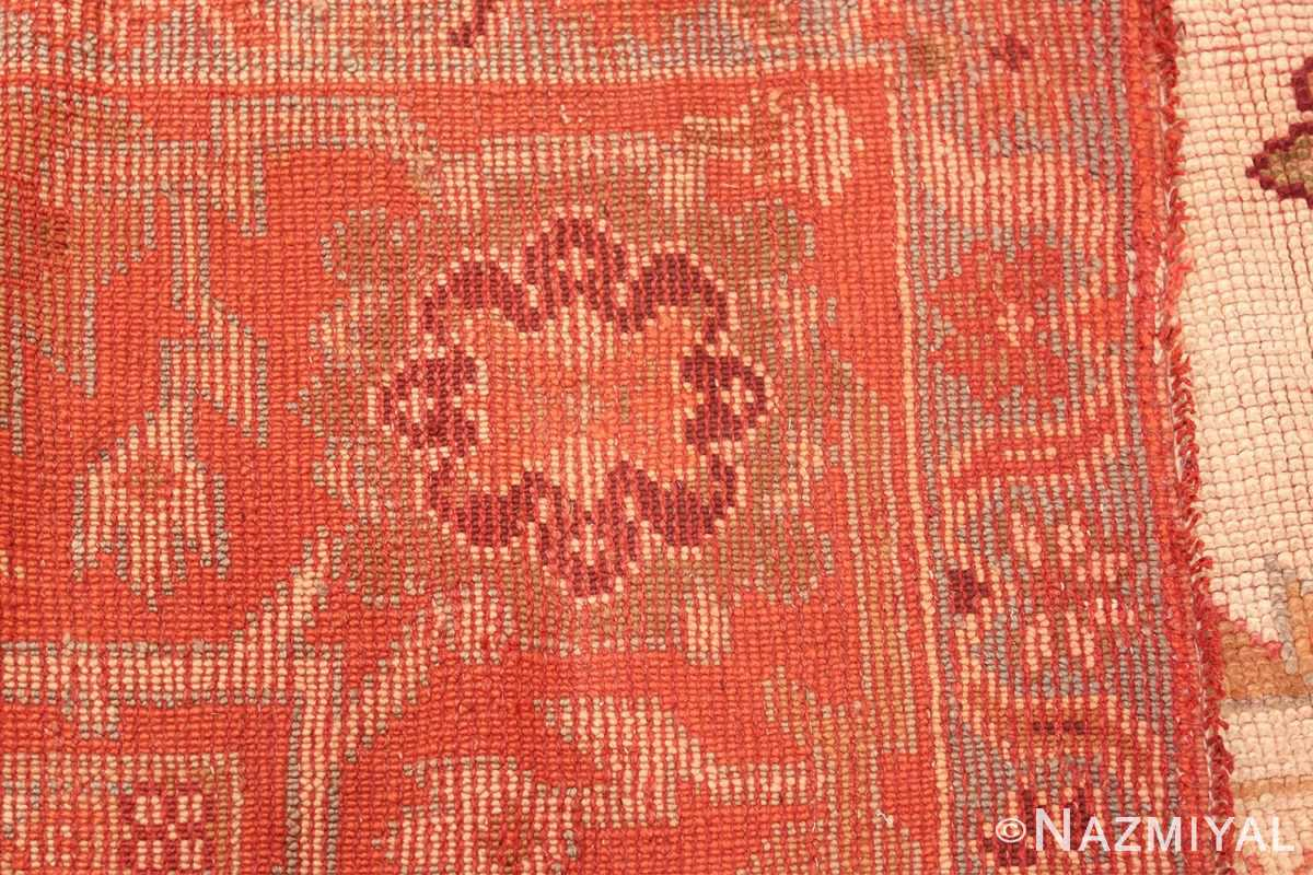 Large Ivory Background Antique Irish Donegal Rug 47566 Woven Knots Nazmiyal