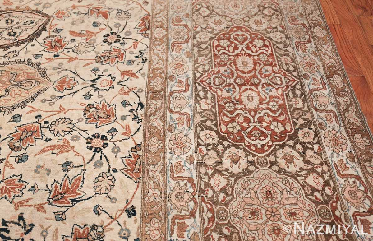 Large Persian Ardabil Design Tabriz Antique Rug 50615 Border Nazmiyal
