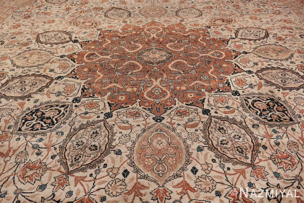 Large Persian Ardabil Design Tabriz Antique Rug 50615 Central Medallion Nazmiyal
