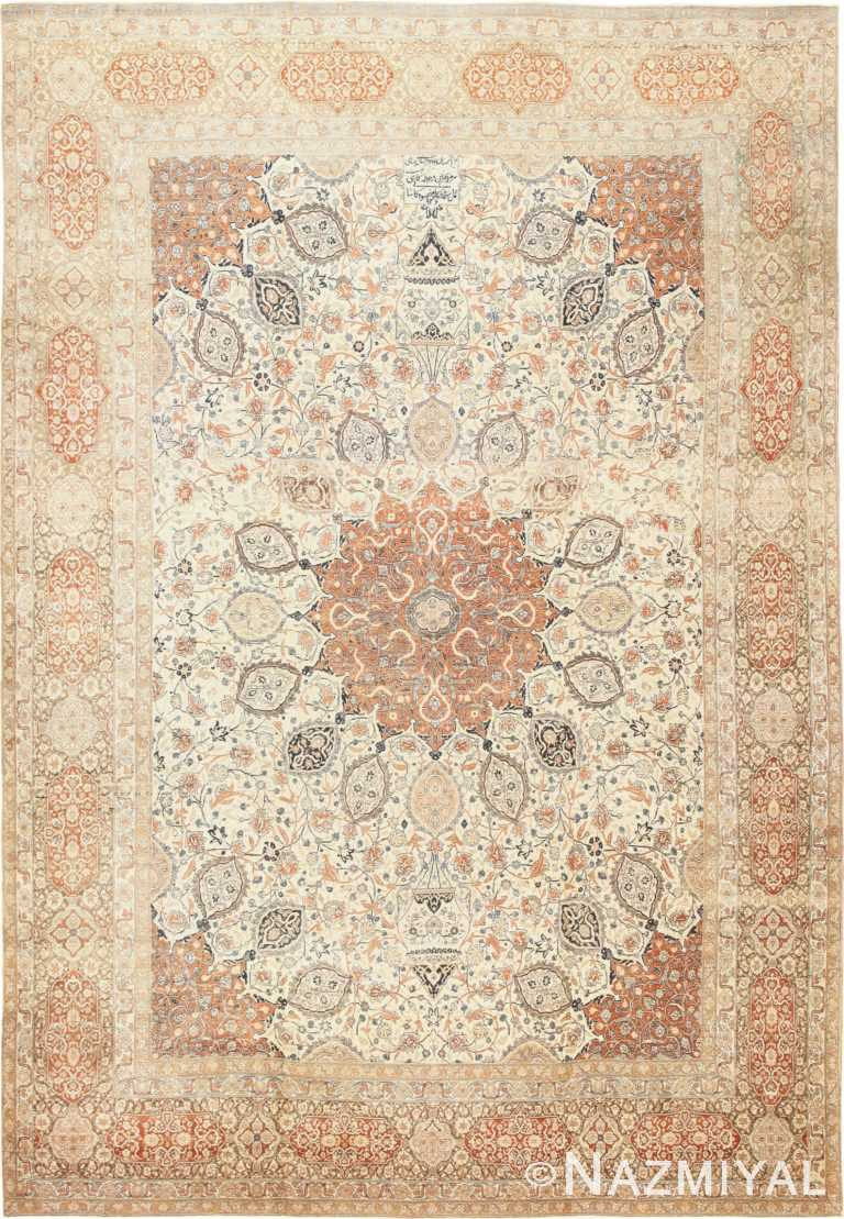 Large Persian Ardabil Design Tabriz Antique Rug 50615 Nazmiyal