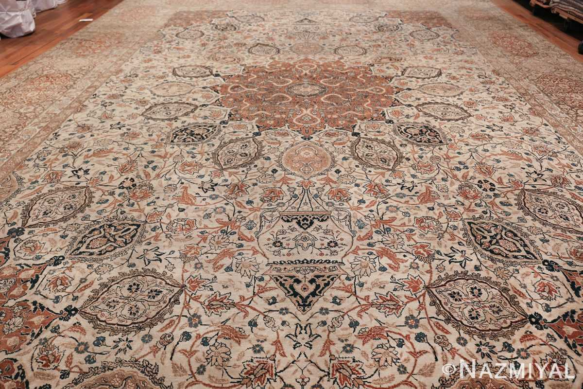 Large Persian Ardabil Design Tabriz Antique Rug 50615 Field Wide Shot Nazmiyal
