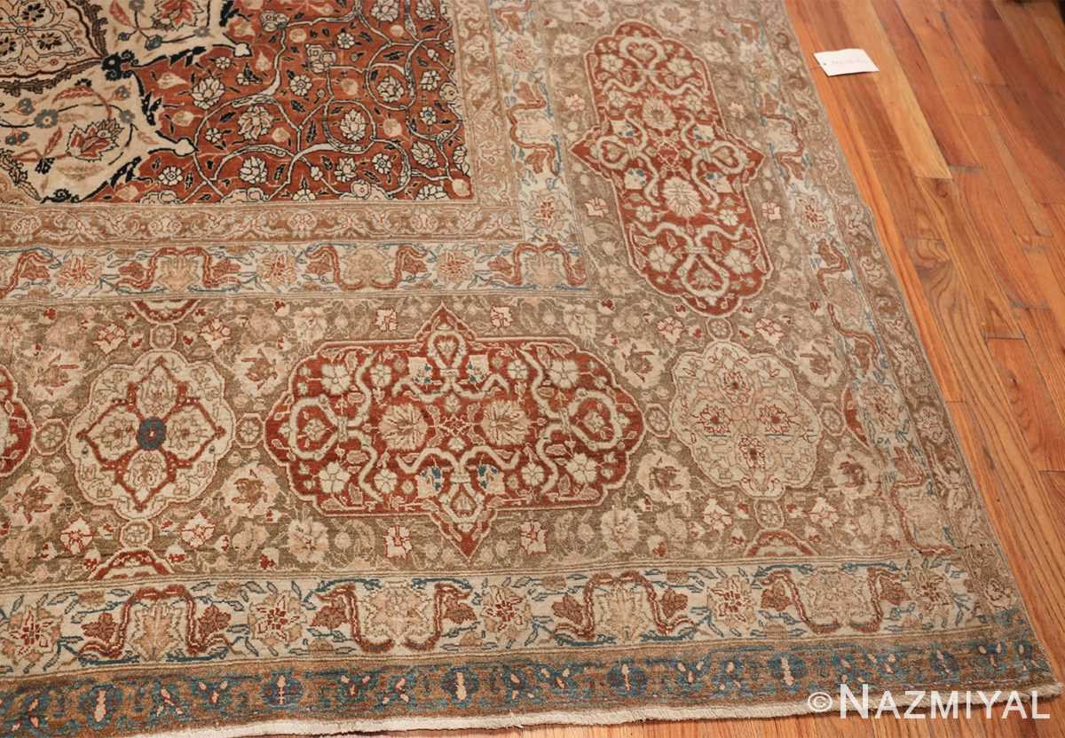 Large Persian Ardabil Design Tabriz Antique Rug 50615 Side Corner Nazmiyal