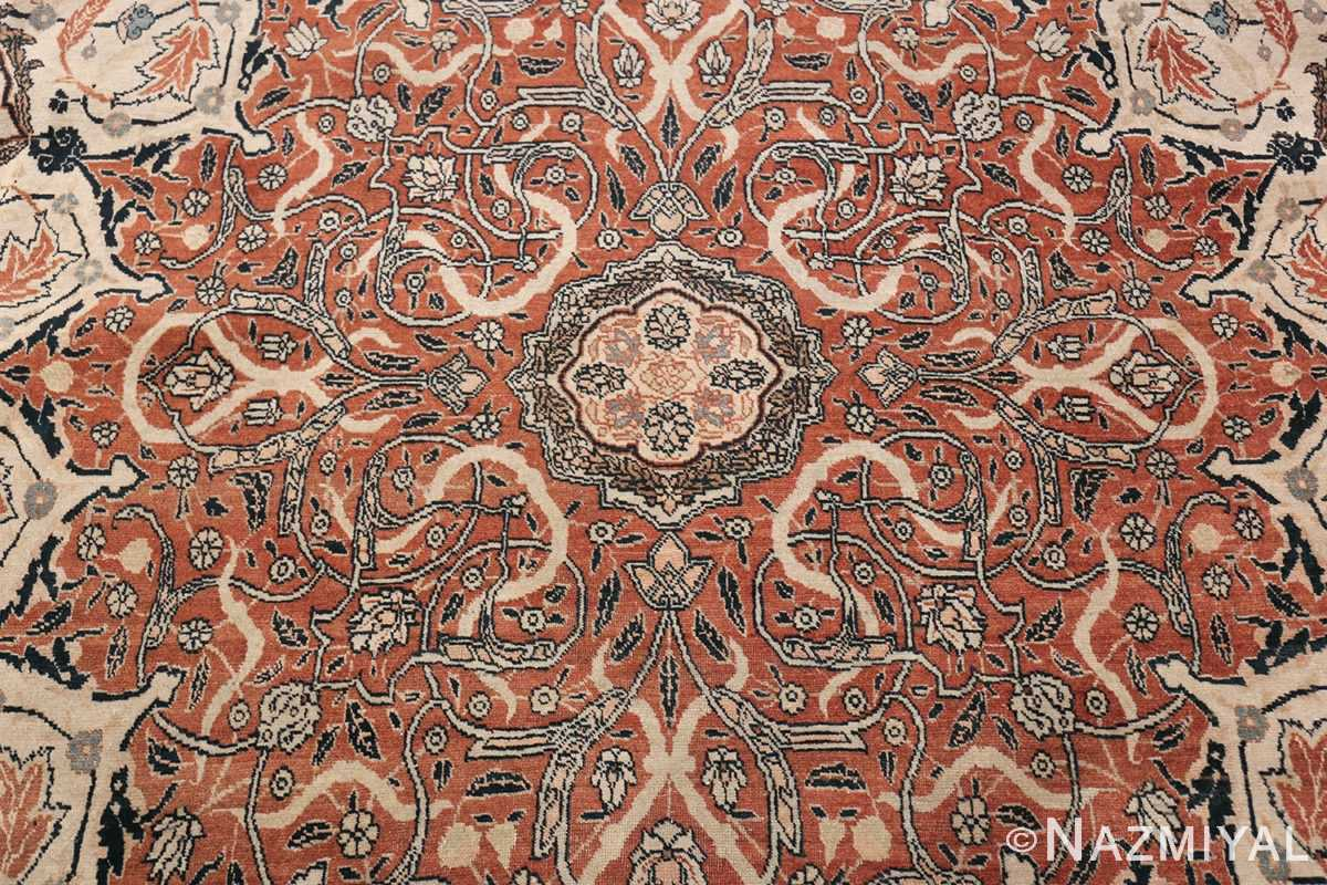 Large Persian Ardabil Design Tabriz Antique Rug 50615 Top Down Middle Nazmiyal