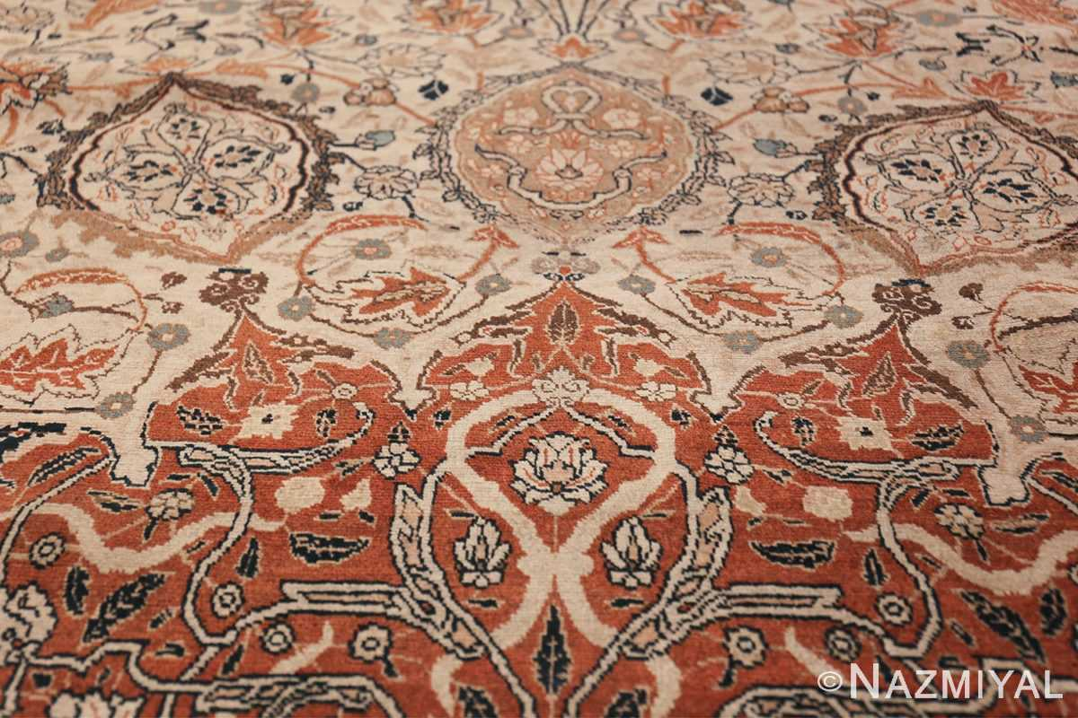 Large Persian Ardabil Design Tabriz Antique Rug 50615 Trio Pattern Nazmiyal