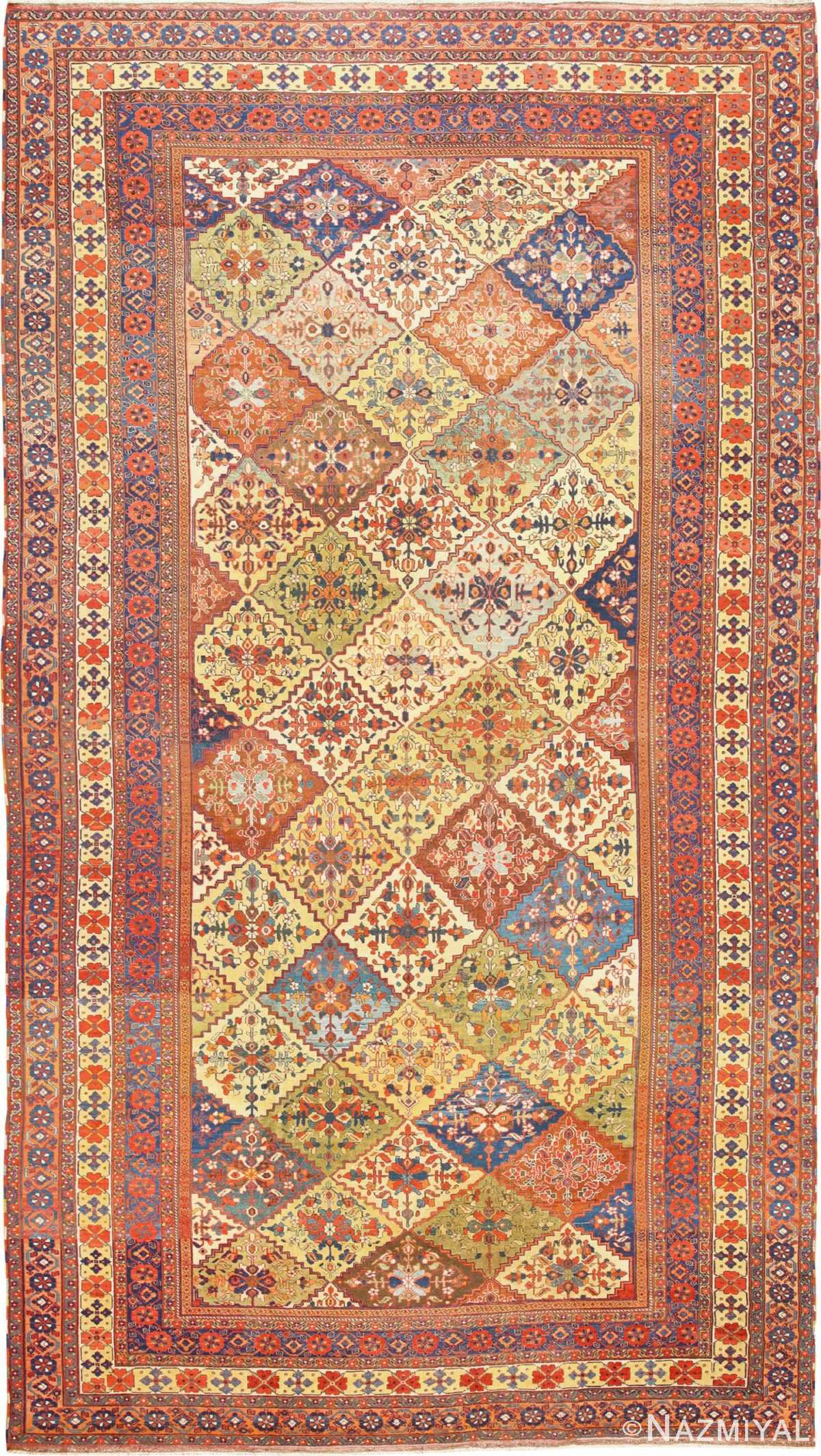 Oversize Tribal Persian Qashqai  Antique Rug 50619 Nazmiyal