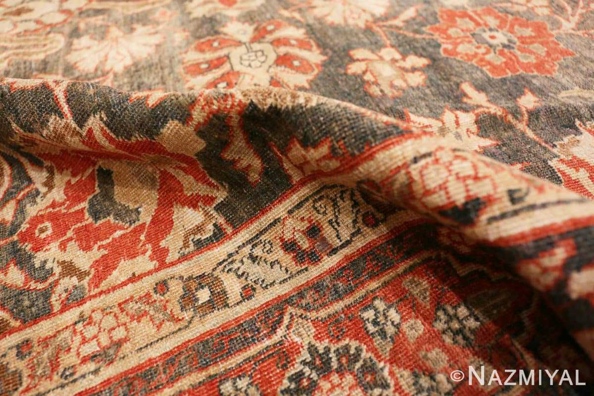 Pile beautiful Grey Antique Persian Tabriz rug 48598 by Nazmiyal