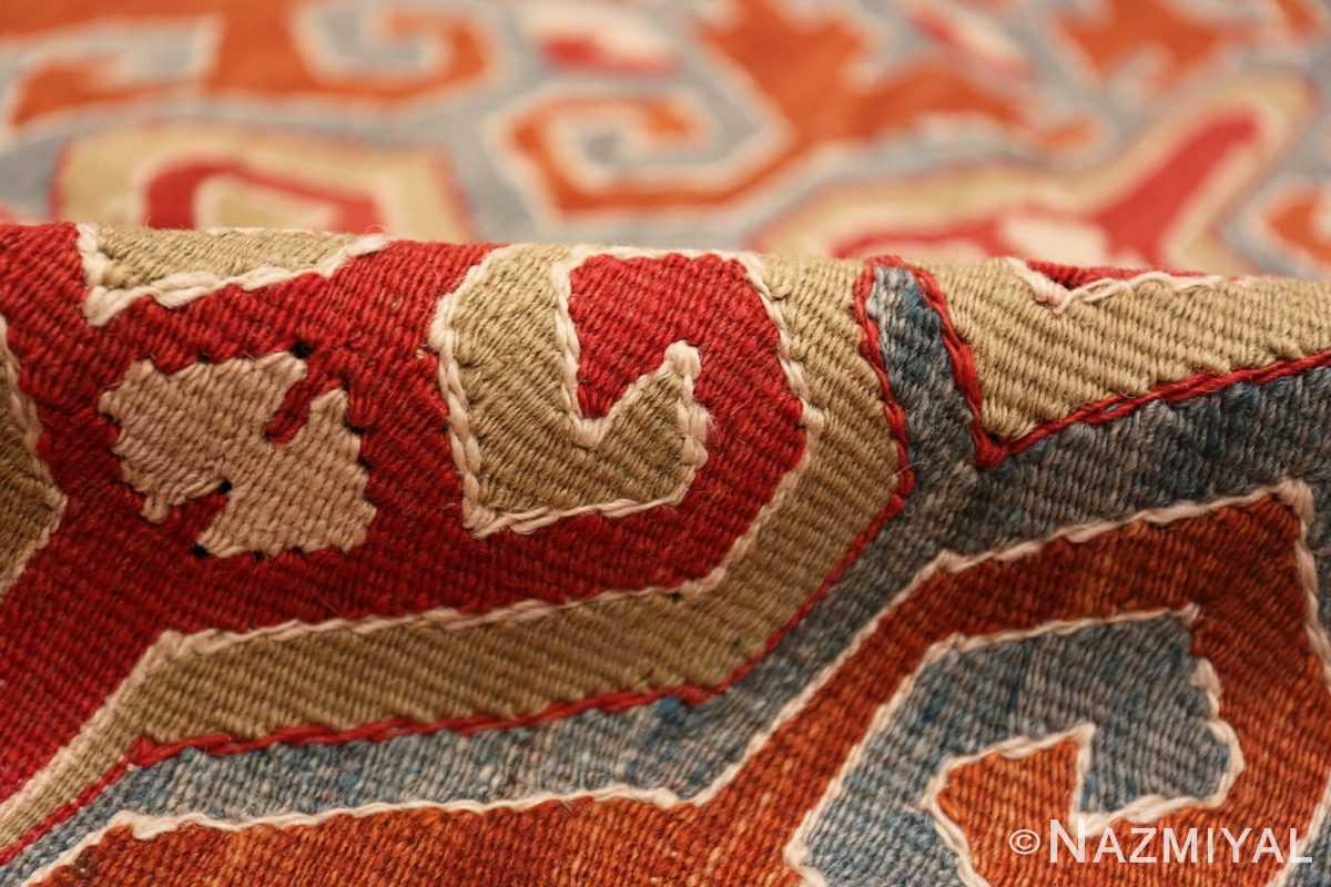 Pile Vintage Tribal Turkish Kilim rug 50636 by Nazmiyal
