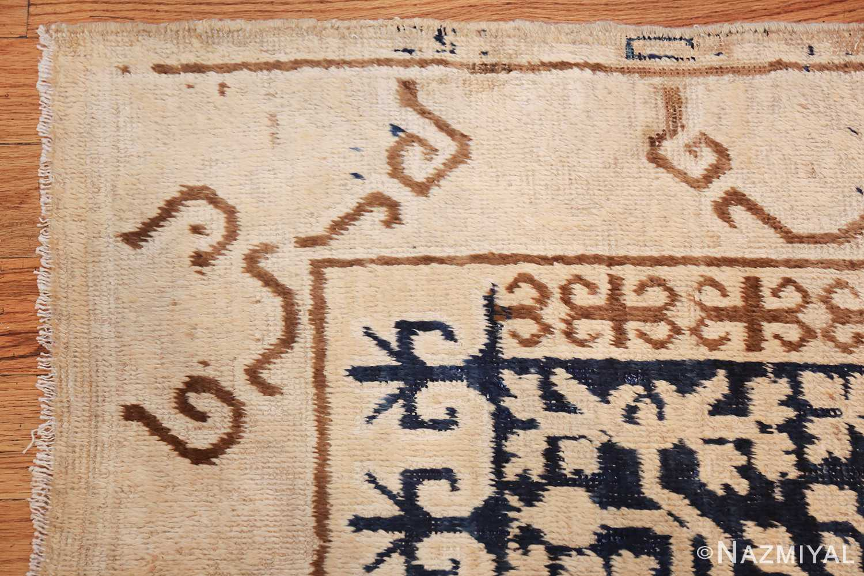 small pomegranate design antique khotan rug 48771 corner Nazmiyal