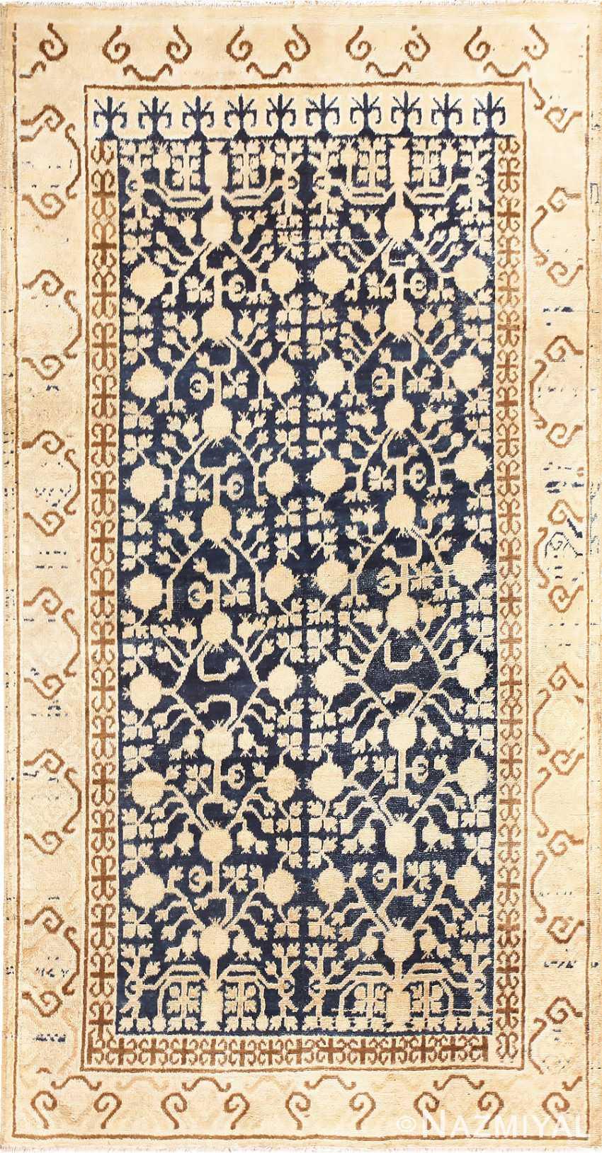 Small Pomegranate Design Antique Khotan Rug 48771 Nazmiyal