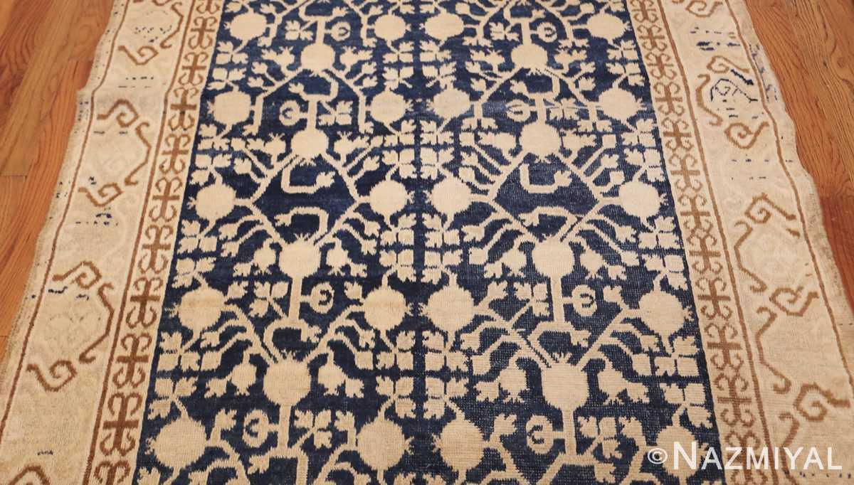 small pomegranate design antique khotan rug 48771 field Nazmiyal