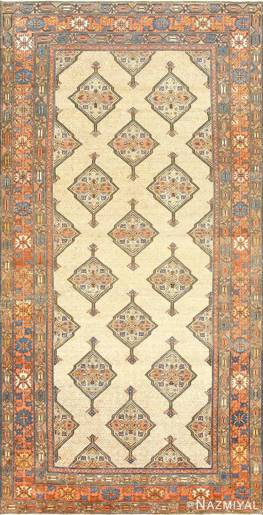 Tribal Gallery Size Persian Antique Serab Rug 50539 Nazmiyal