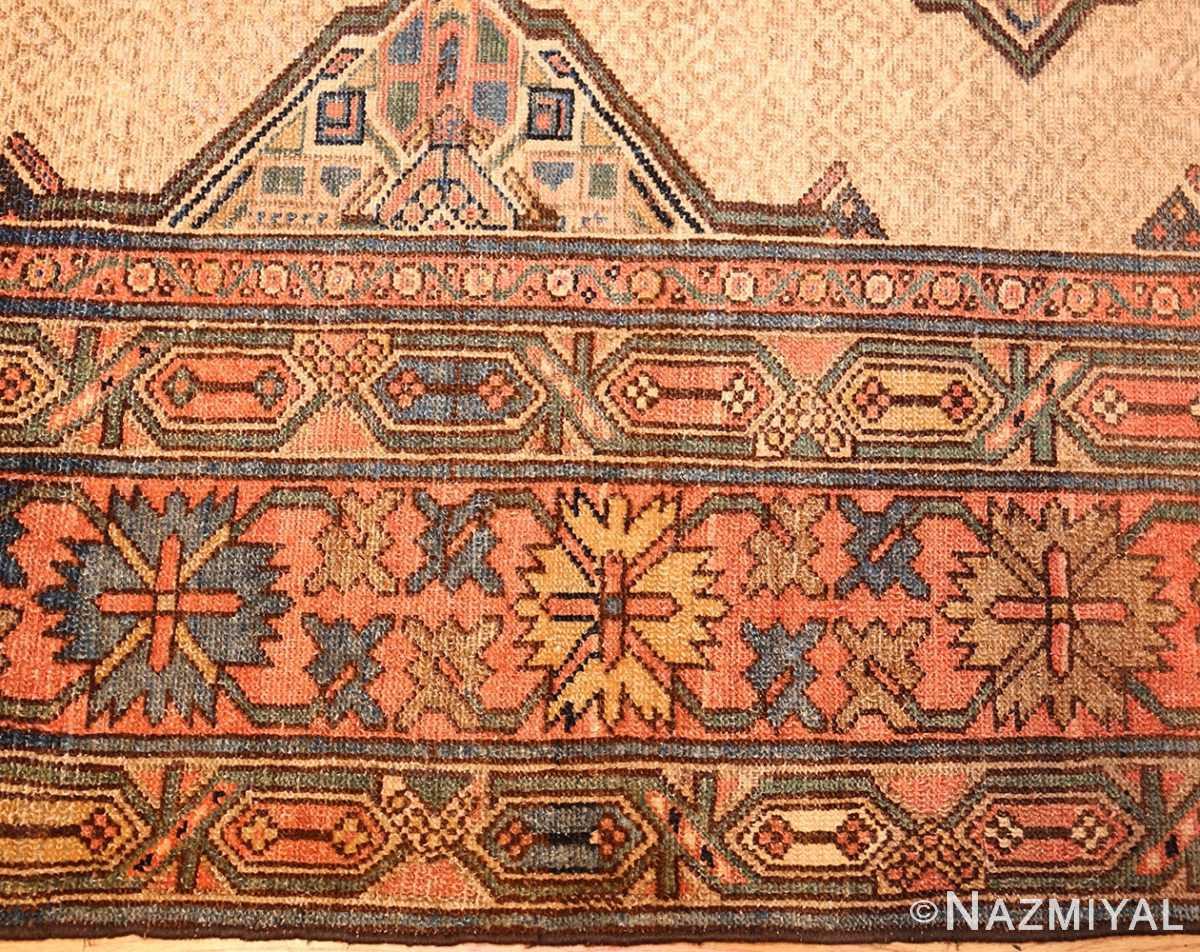 tribal gallery size persian antique serab rug border Nazmiyal