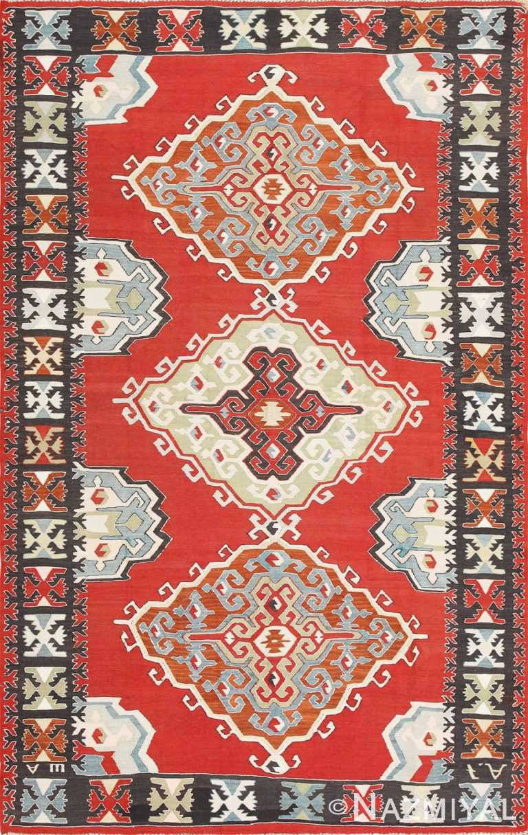 Vintage Tribal Turkish Kilim Rug 50636 Nazmiyal