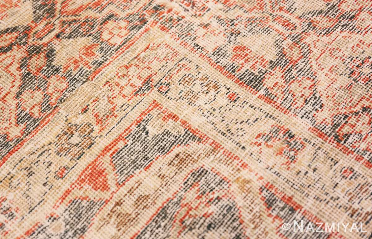 Weave detail beautiful Grey Antique Persian Tabriz rug 48598 by Nazmiyal