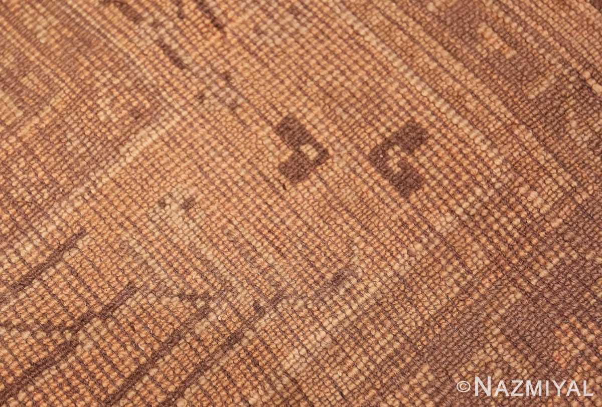 Weave detail decorative large Antique Turkish Oushak rug 50566 by Nazmiyal