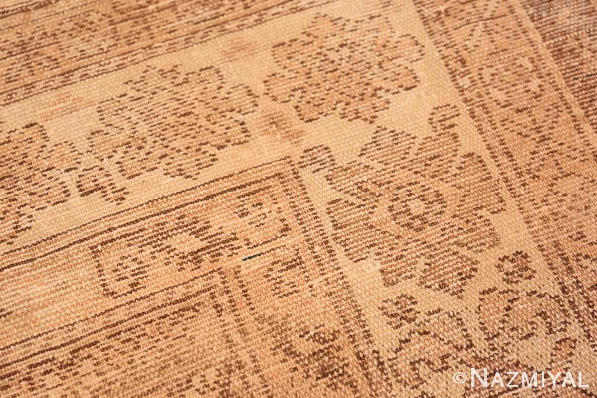 Weave detail Antique gallery size tribal Persian Malayer rug 50469 by Nazmiyal Antique Rugs in NYC