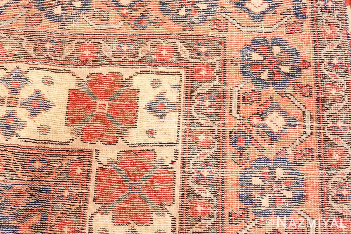Weave detail Oversize Tribal Persian Qashqai Antique rug 50619 by Nazmiyal
