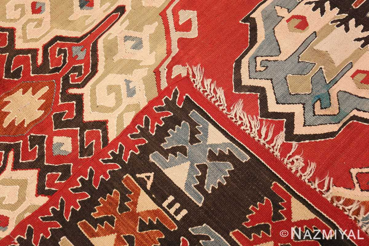 Weave Vintage Tribal Turkish Kilim rug 50636 by Nazmiyal