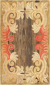 Antique Folk Art American Hooked Rug 50560 Nazmiyal