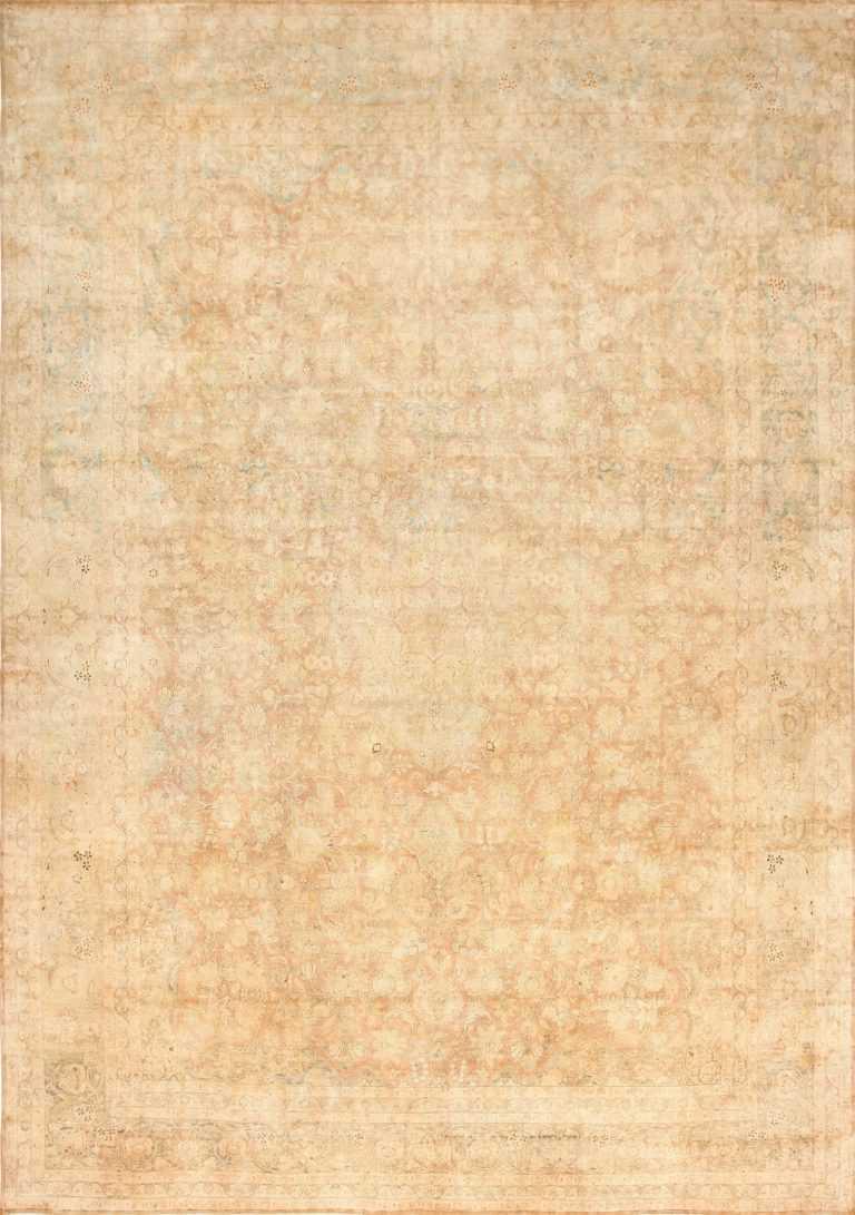 Large and Decorative Antique Persian Tabriz Rug 48740 Nazmiyal