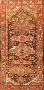 Small Antique Tribal Caucasian Kazak Rug 50582 Nazmiyal