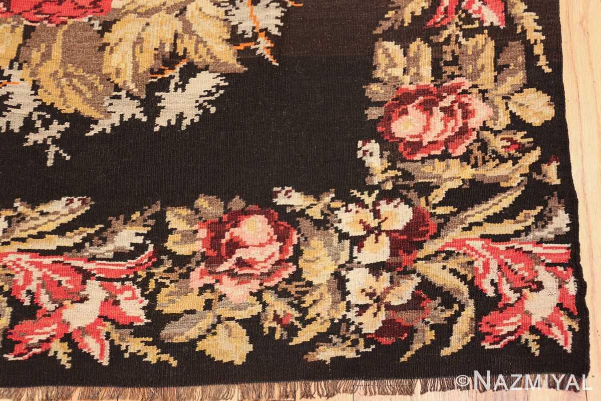 antique flat woven romanian bessarabian kilim rug 48819 corner Nazmiyal