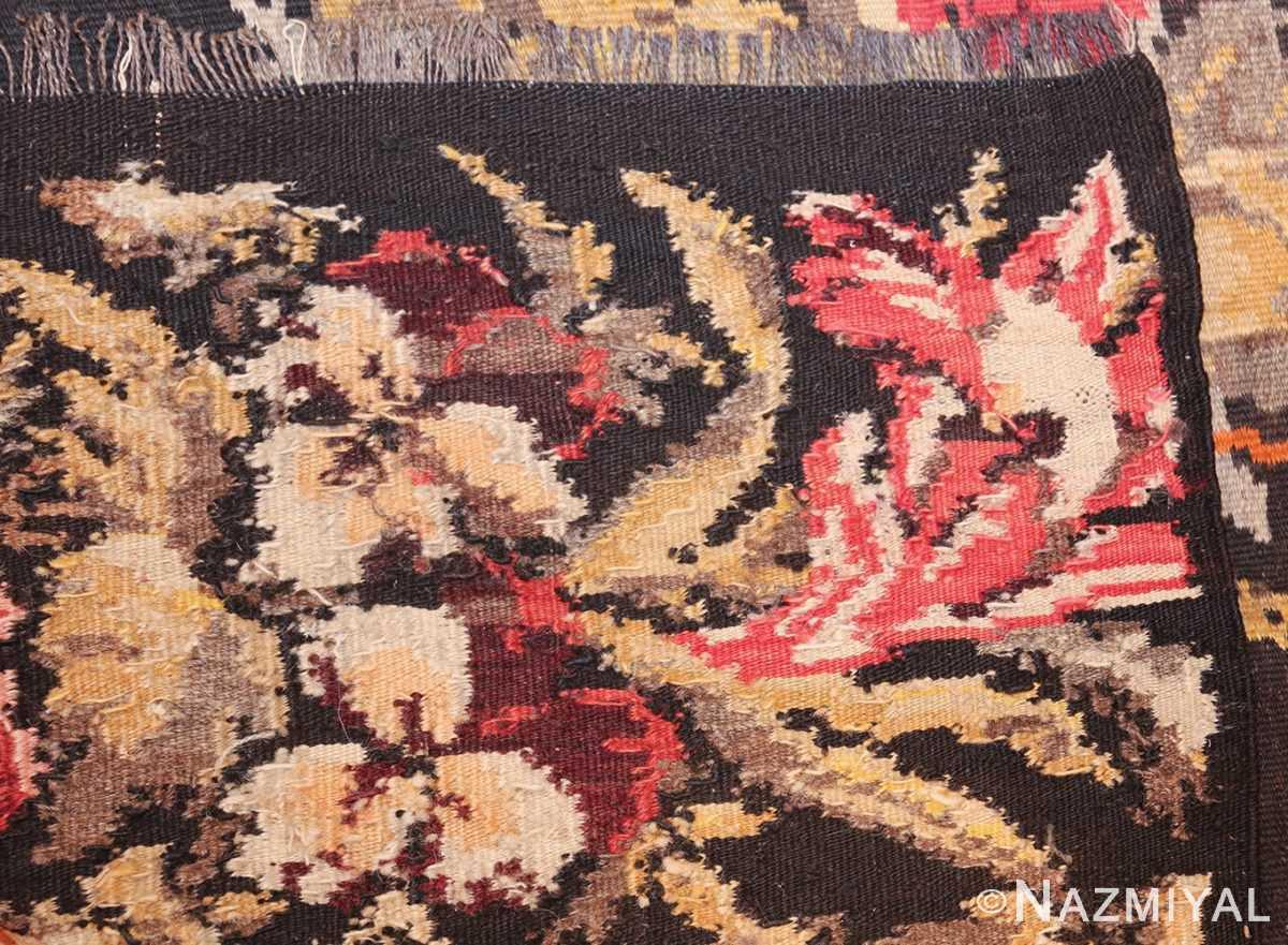 antique flat woven romanian bessarabian kilim rug 48819 knots Nazmiyal