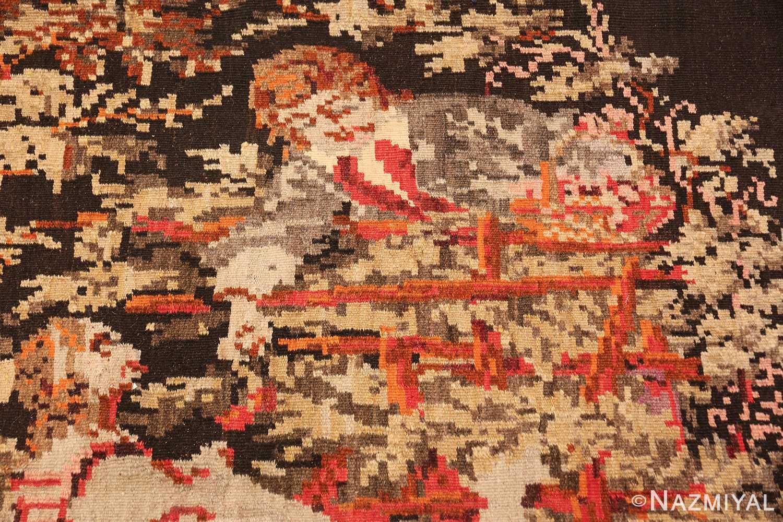 antique flat woven romanian bessarabian kilim rug 48819 man Nazmiyal