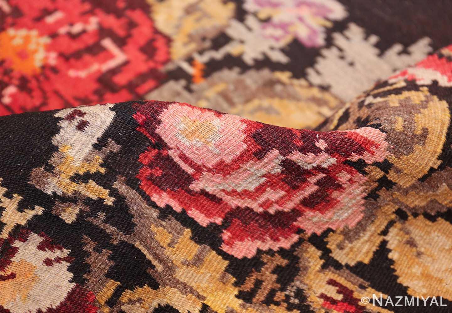 antique flat woven romanian bessarabian kilim rug 48819 pile Nazmiyal