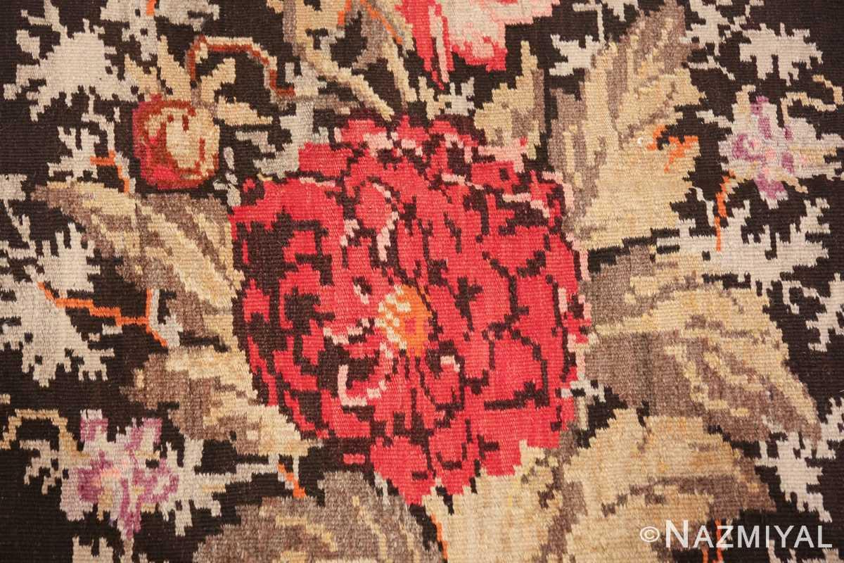 antique flat woven romanian bessarabian kilim rug 48819 rose Nazmiyal