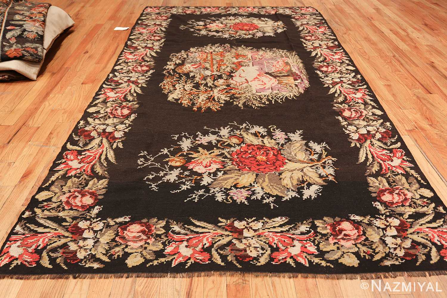 antique flat woven romanian bessarabian kilim rug 48819 whole Nazmiyal
