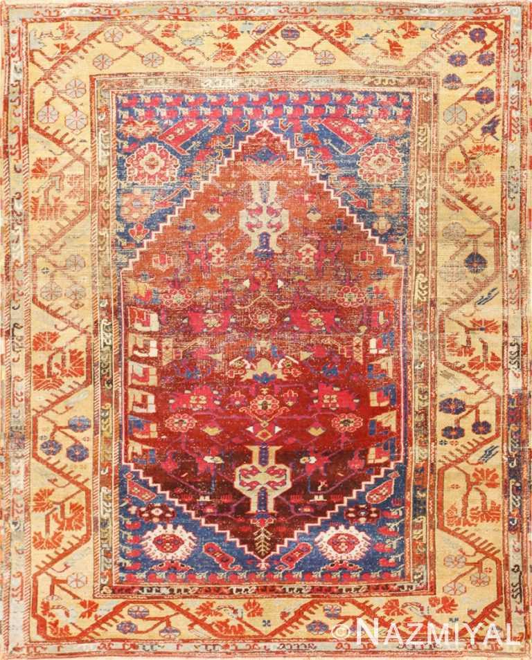 Beautiful 17th Century Tribal Antique Turkish Kula Rug 48813 Nazmiyal