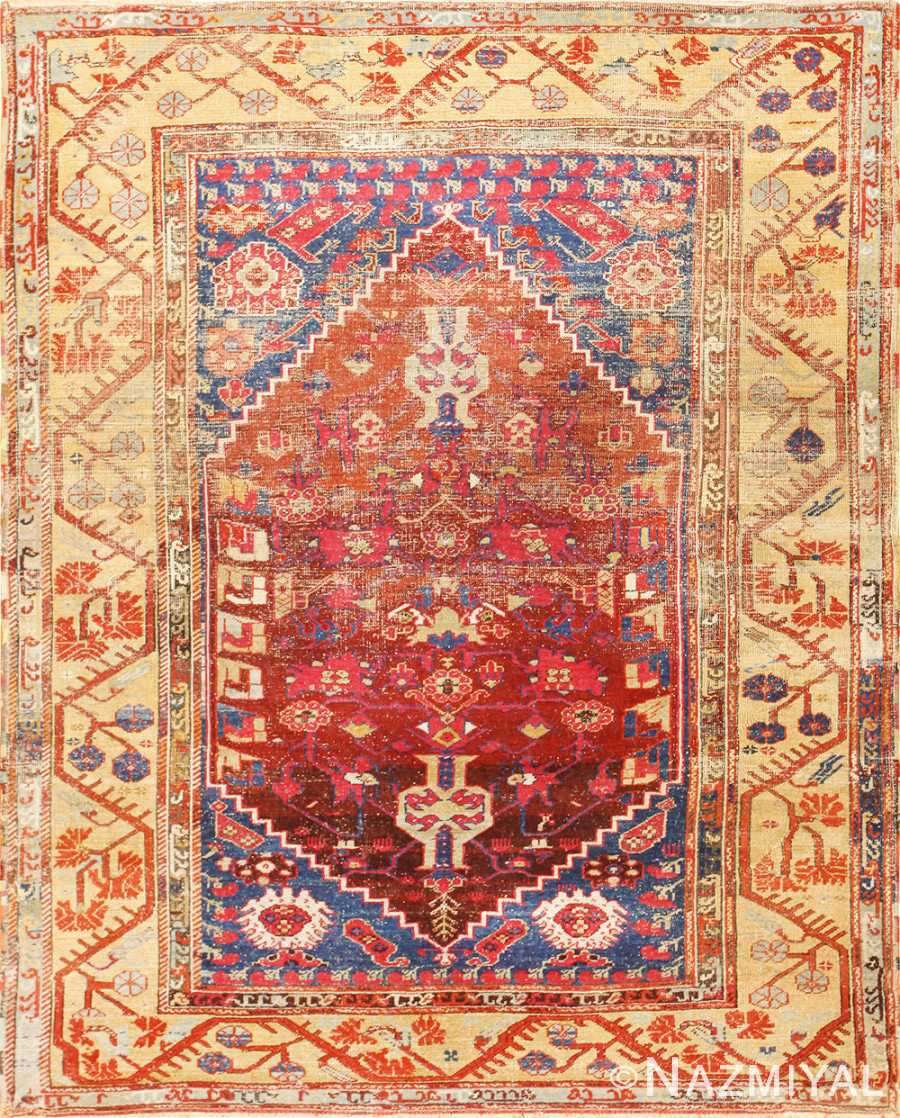 Beautiful 17th Century Tribal Antique Turkish Kula Rug 48813 Nazmiyal