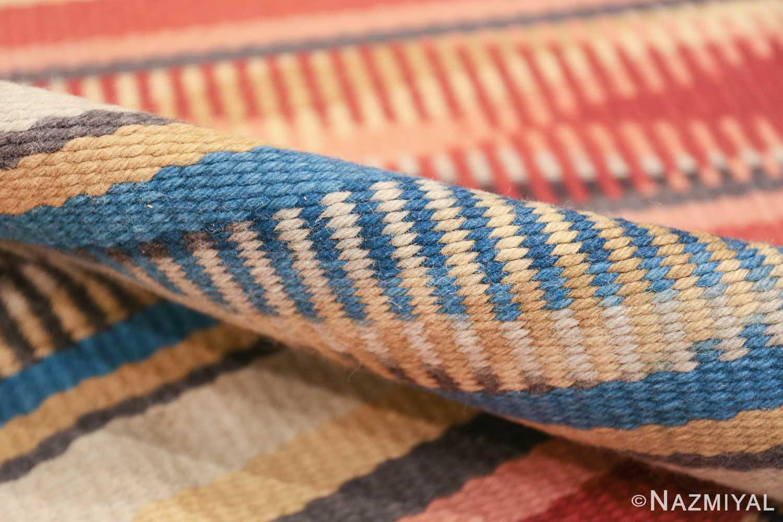 Beautiful Square Vintage Swedish Kilim rug 48821 pile Nazmiyal