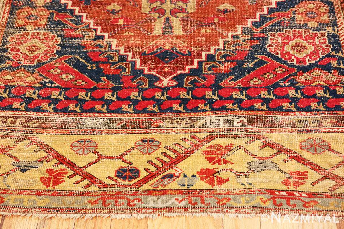 Border beautiful 17th Century Tribal Antique Turkish Kula rug 48813 by Nazmiyal