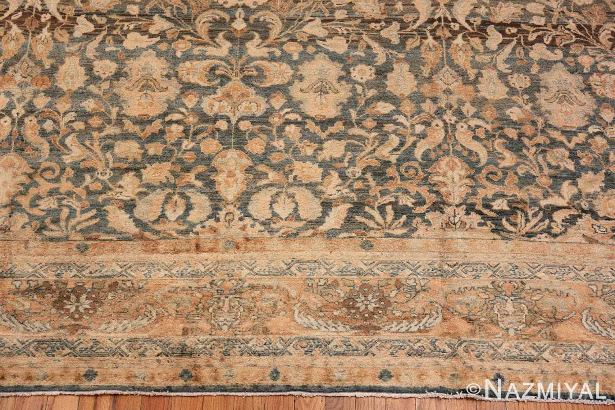 Border Large decorative Antique Persian Malayan rug 50339 by Nazmiyal