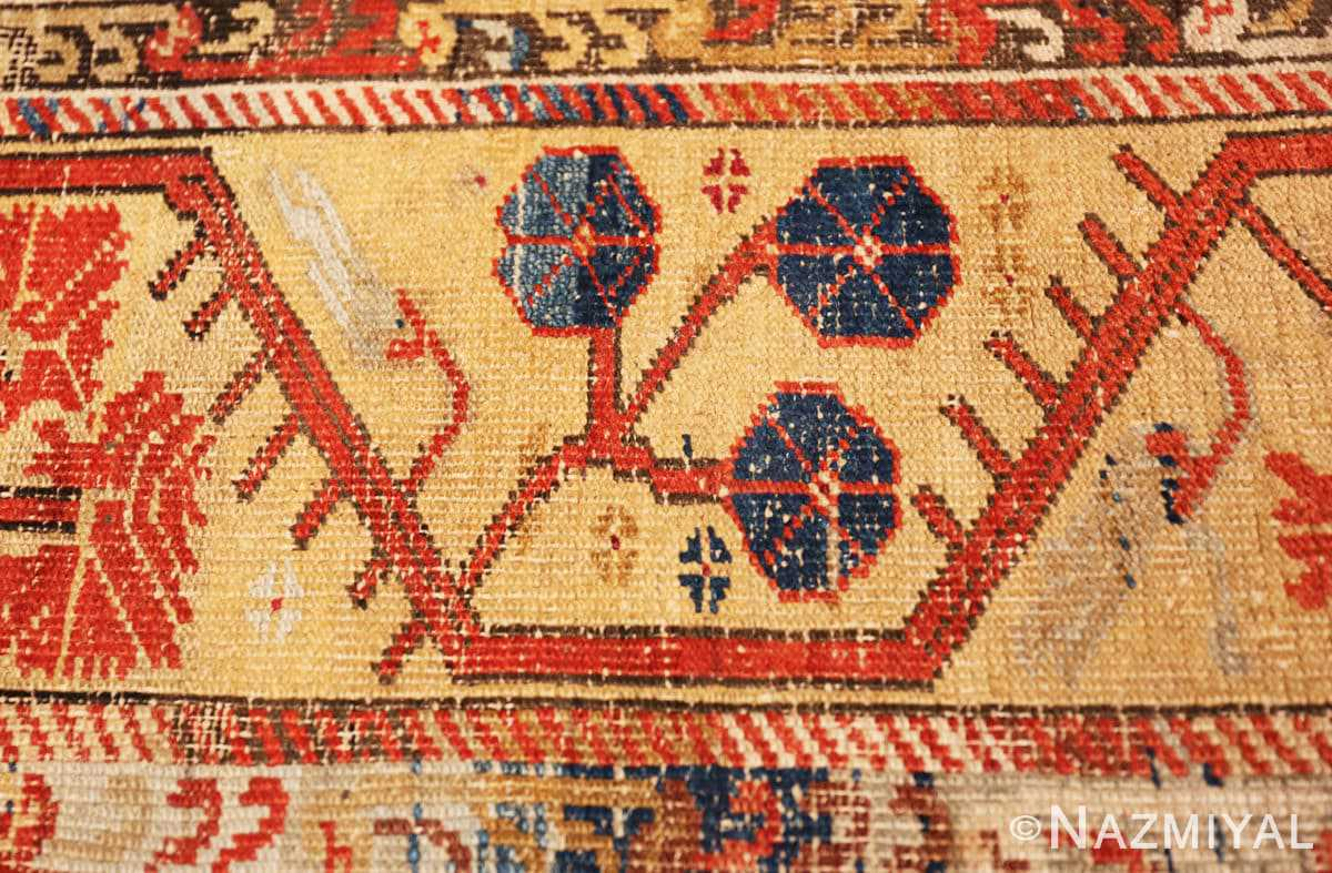 Border zoom beautiful 17th Century Tribal Antique Turkish Kula rug 48813 by Nazmiyal