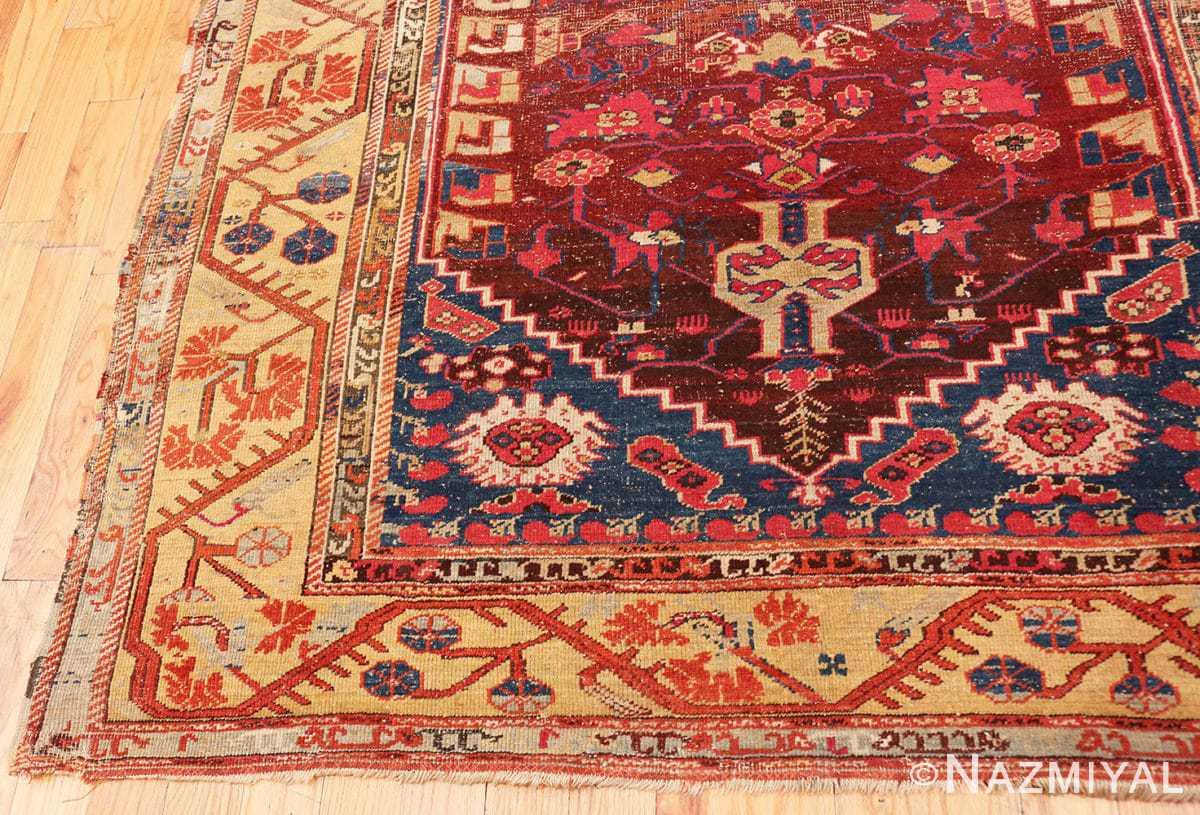 Corner Beautiful 17th Century Tribal Antique Turkish Kula rug 48813 by Nazmiyal