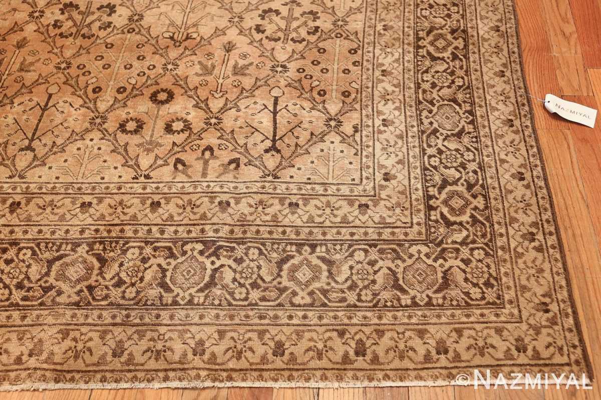 decorative antique garden design persian tabriz rug 50573 corner Nazmiyal