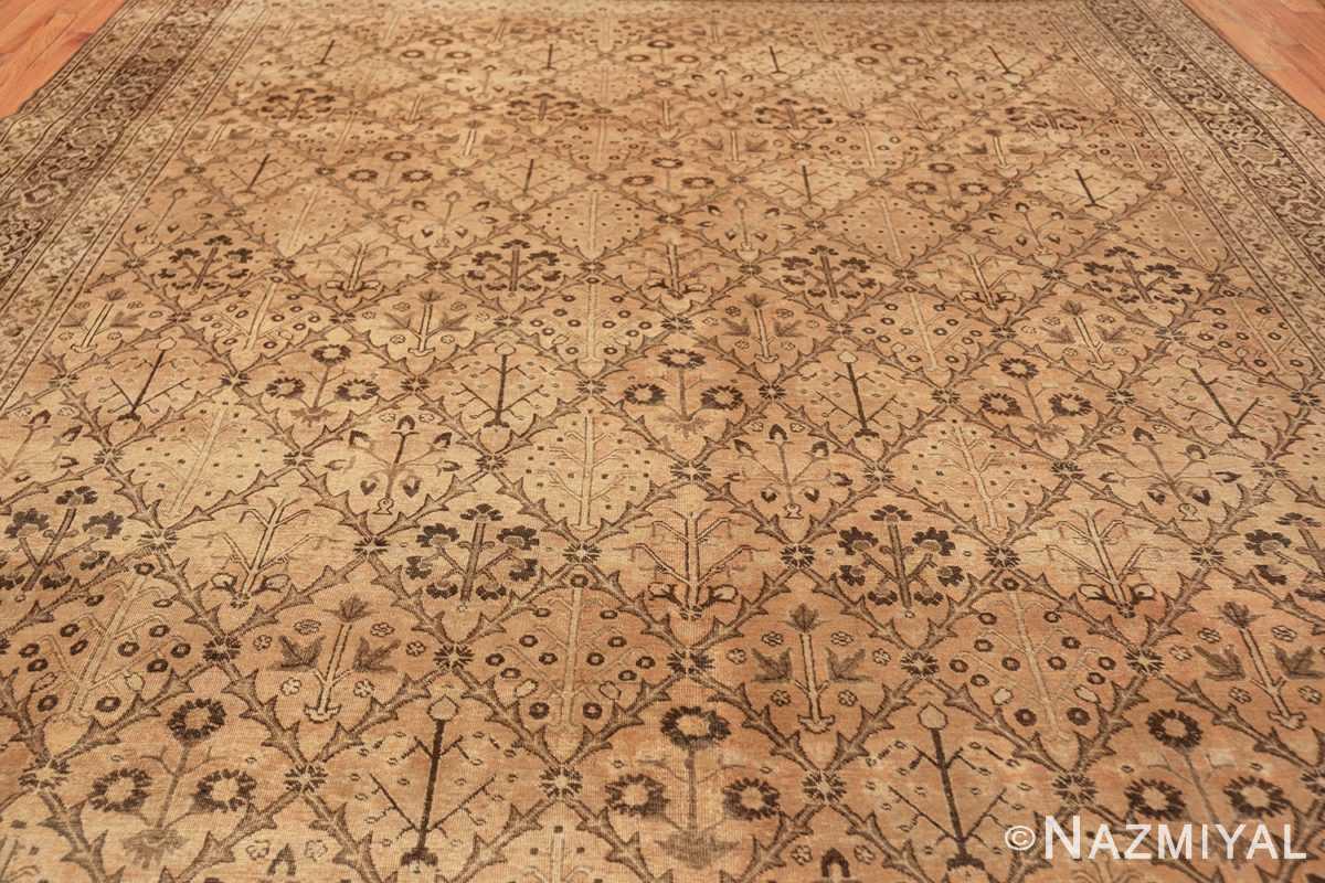 decorative antique garden design persian tabriz rug 50573 field Nazmiyal