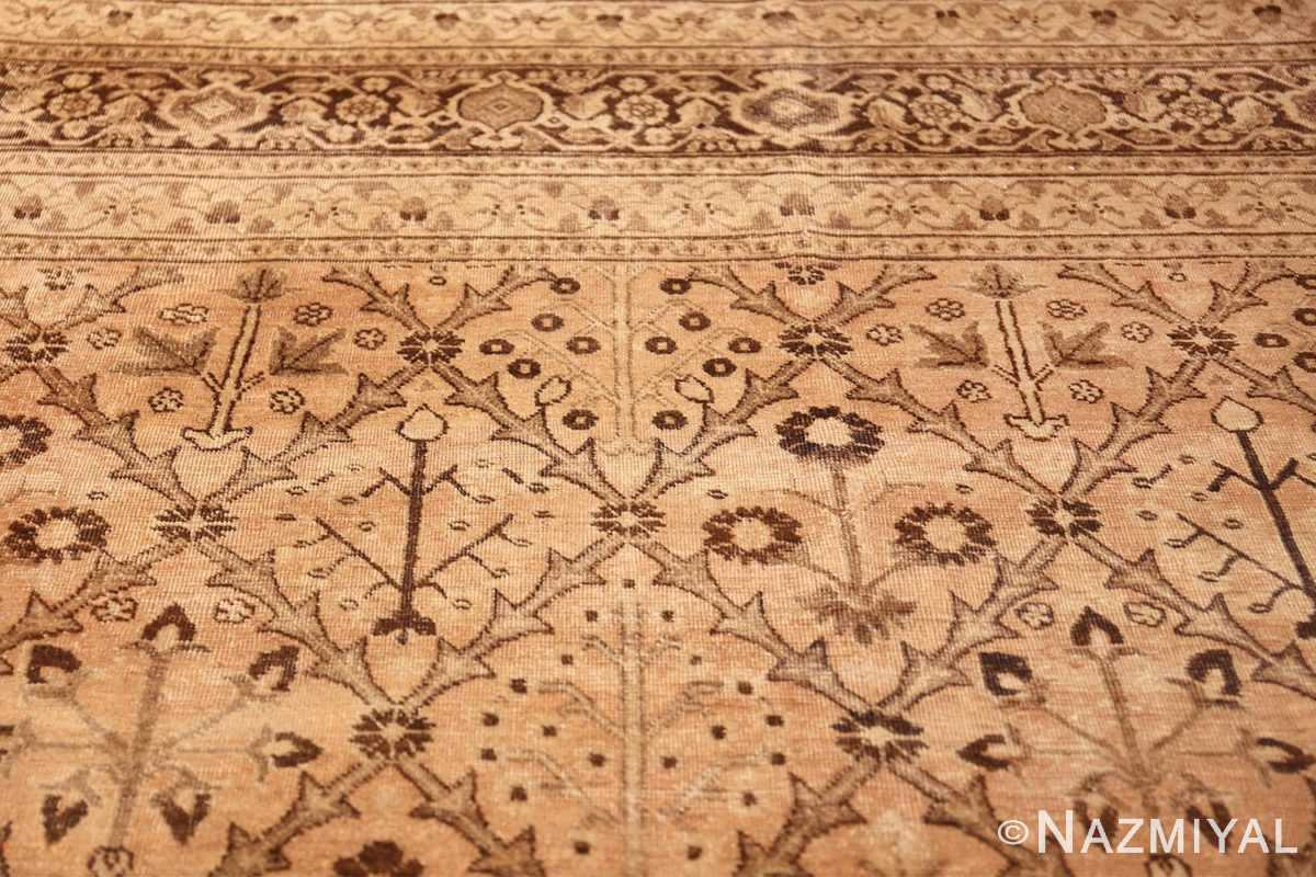 decorative antique garden design persian tabriz rug 50573 part Nazmiyal