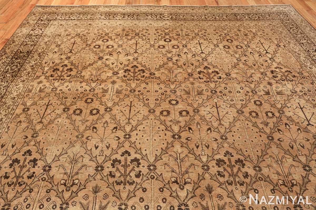 decorative antique garden design persian tabriz rug 50573 top Nazmiyal