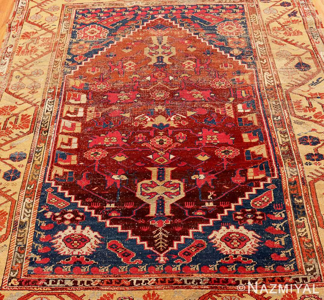 Field beautiful 17th Century Tribal Antique Turkish Kula rug 48813 by Nazmiyal