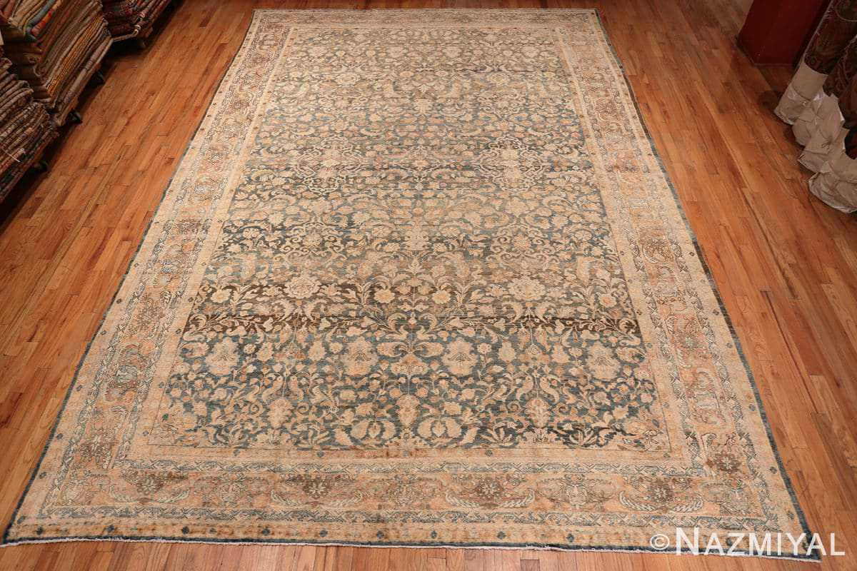 Full Large decorative Antique Persian Malayan rug 50339 by Nazmiyal