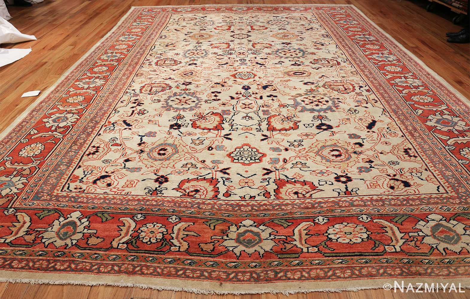 ivory background room size persian antique sultanabad rug 50676 whole