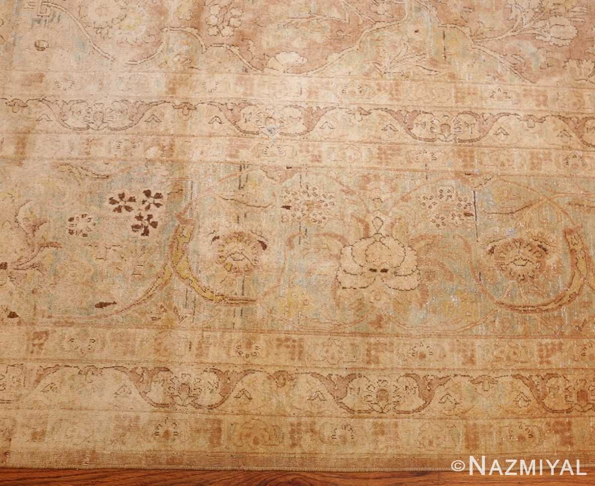 large and decorative antique persian tabriz rug 48740 border Nazmiyal